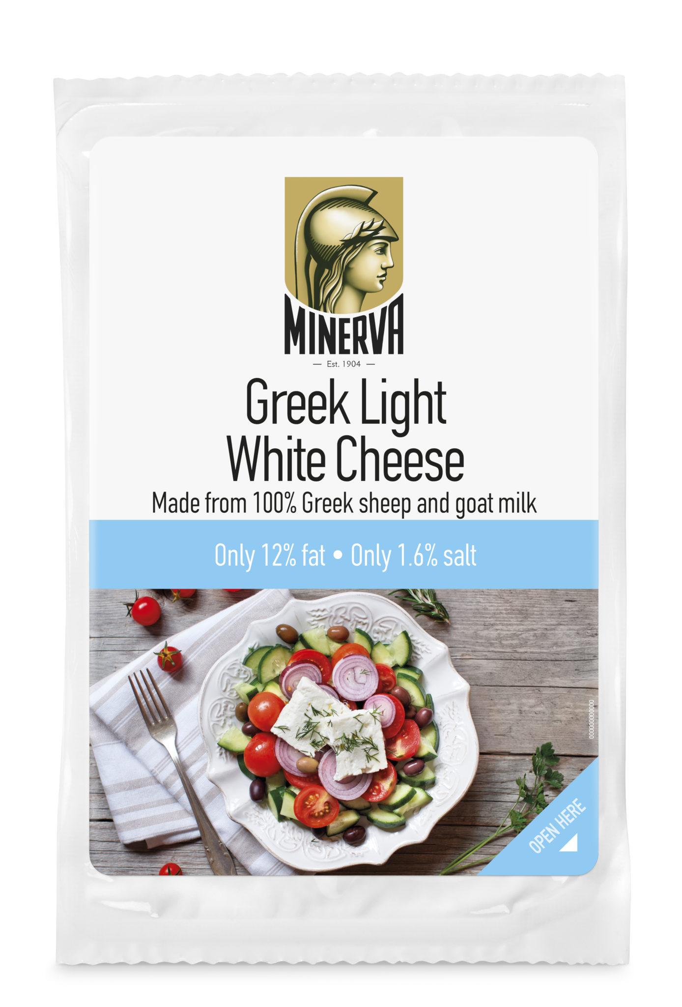 Světlý bílý sýr Minerva s 12% tuku
