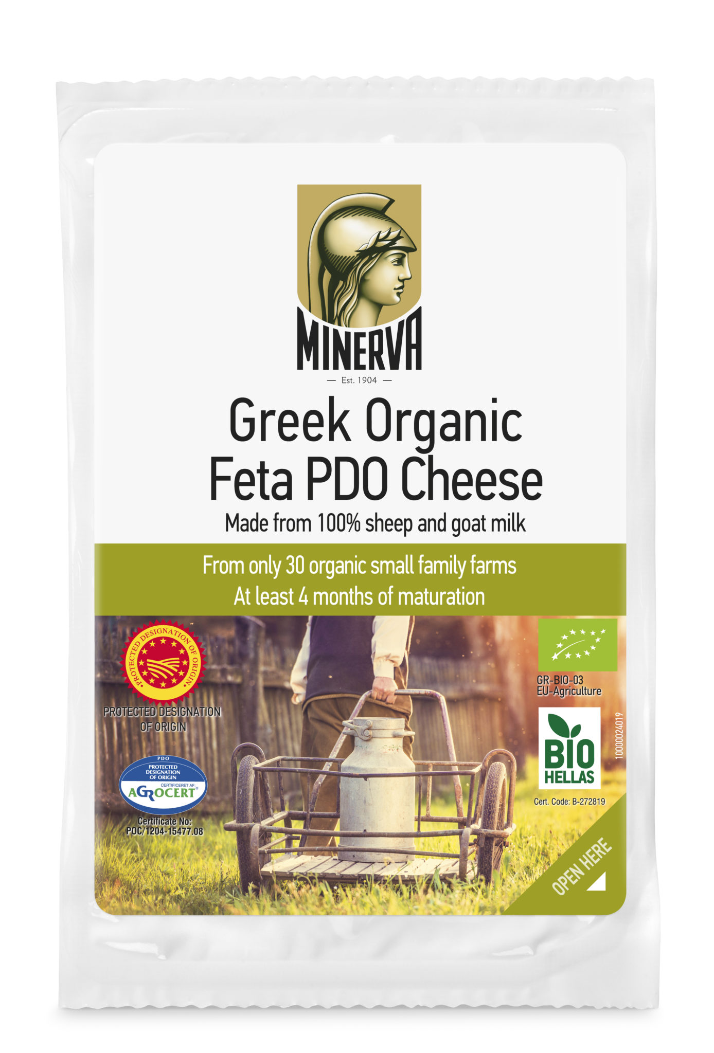 Minerva Organic Feta P.D.O. Сирене