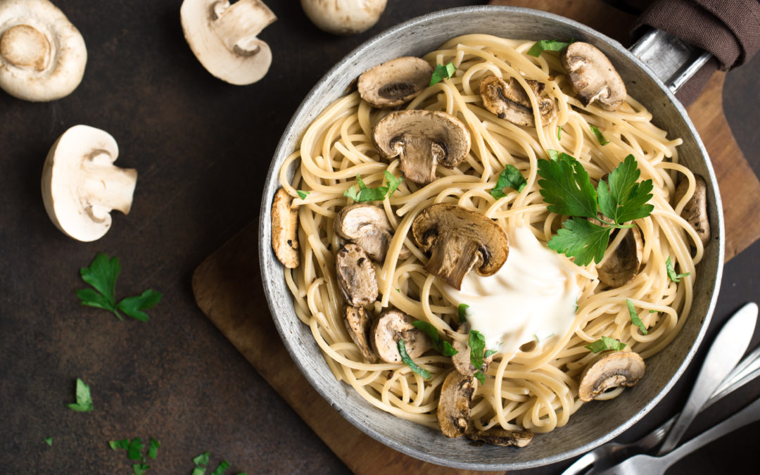Chicken and Mushroom Pasta with Balsamic Cream Sauce