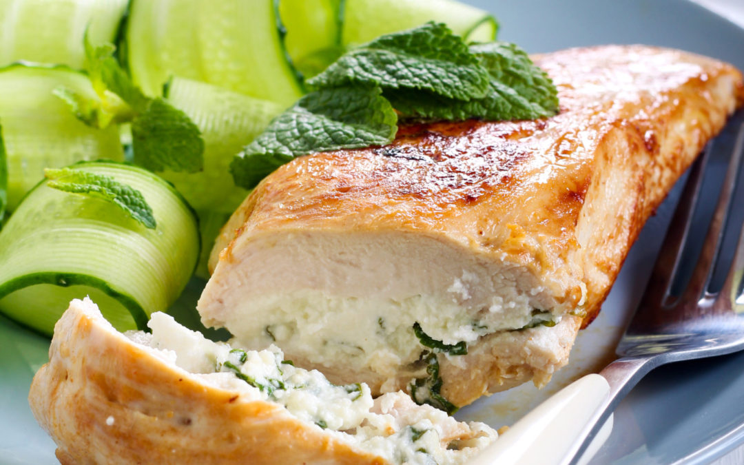 Chicken fillet with Minerva feta cheese & mint filling