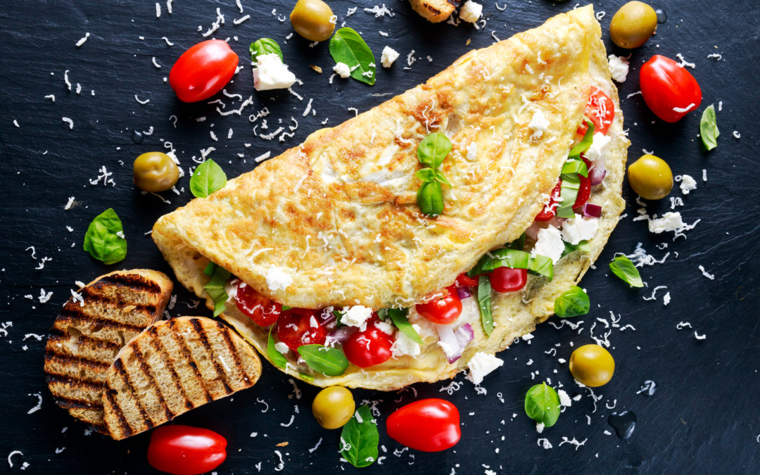 Oven omelet with vegetables