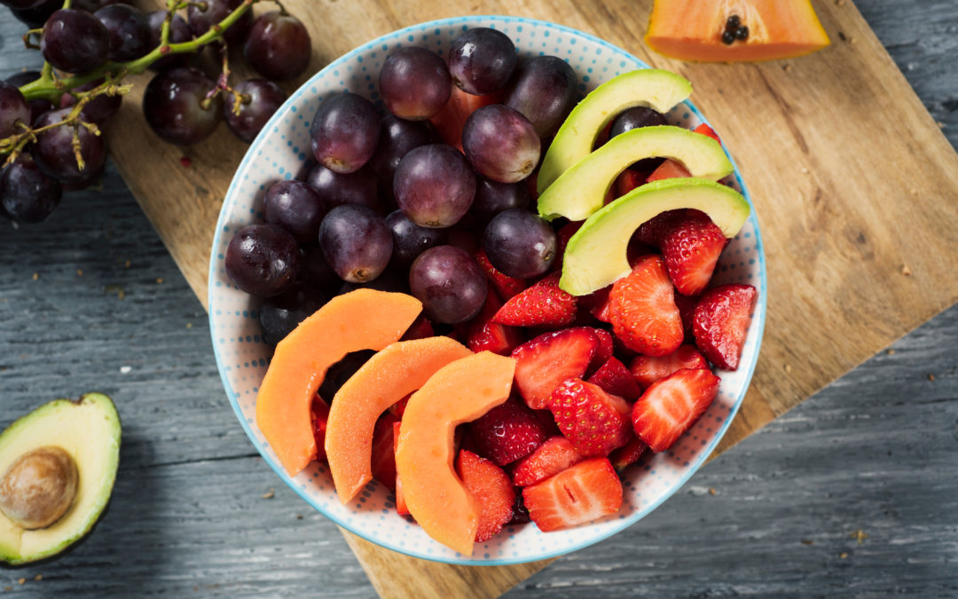 Summer appetizer with fruit